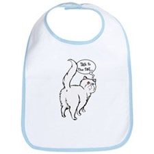 White Persian Tail Talk Bib