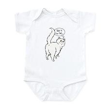 White Persian Tail Talk Infant Bodysuit