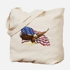 American Flag and Eagle Tote Bag