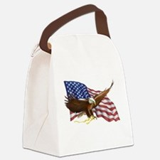 American Flag and Eagle Canvas Lunch Bag