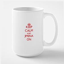 Keep Calm and Jimena ON Mugs