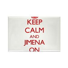 Keep Calm and Jimena ON Magnets