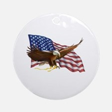 American Flag and Eagle Ornament (Round)
