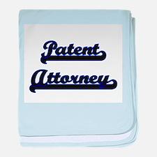 Patent Attorney Classic Job Design baby blanket