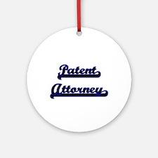 Patent Attorney Classic Job Desig Ornament (Round)