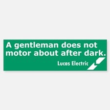 Lucas Electric Motor After Dark Bumper Bumper Bumper Sticker