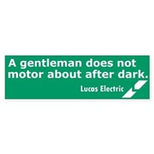 Lucas Electric Motor After Dark Bumper Bumper Sticker
