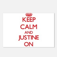 Keep Calm and Justine ON Postcards (Package of 8)
