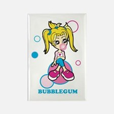 Bubble Gum Girl Rectangle Magnet