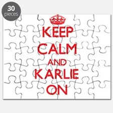 Keep Calm and Karlie ON Puzzle