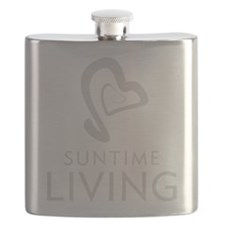 SunTime Living Branded Logo (Silver) Flask
