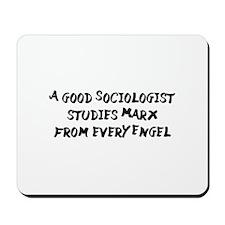 Karl Marx Puns Mousepad