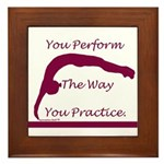 Gymnastics Framed Tile - Perform