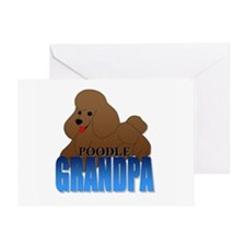 Poodle Grandpa Greeting Card