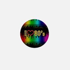 i love 80s Mini Button