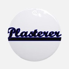 Plasterer Classic Job Design Ornament (Round)