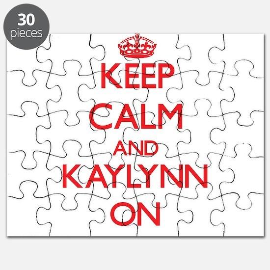 Keep Calm and Kaylynn ON Puzzle