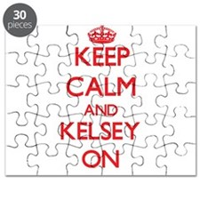 Keep Calm and Kelsey ON Puzzle