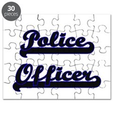 Police Officer Classic Job Design Puzzle