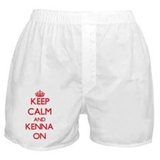 Keep Calm and Kenna ON Boxer Shorts