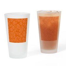 Orange Abstract 45s Drinking Glass