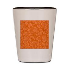 Orange Abstract 45s Shot Glass