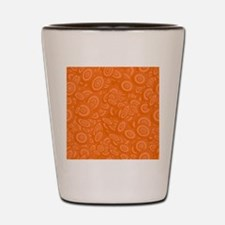 Orange Abstract 45s Shot Glass