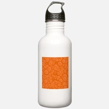 Orange Abstract 45s Water Bottle
