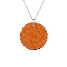 Orange Abstract 45s Necklace
