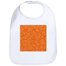 Orange Abstract 45s Bib