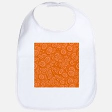 Orange Abstract 45s Bib