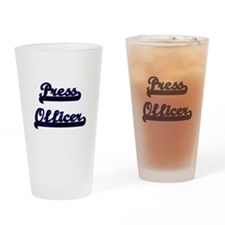 Press Officer Classic Job Design Drinking Glass