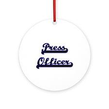 Press Officer Classic Job Design Ornament (Round)