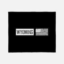 U.S. Flag: Wyoming Throw Blanket