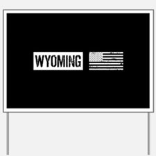 U.S. Flag: Wyoming Yard Sign