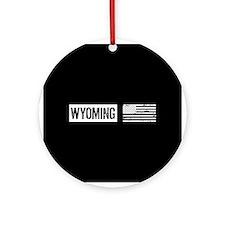 U.S. Flag: Wyoming Ornament (Round)