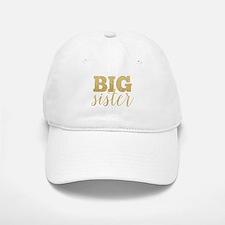 Glitter Big Sister Baseball Baseball Cap