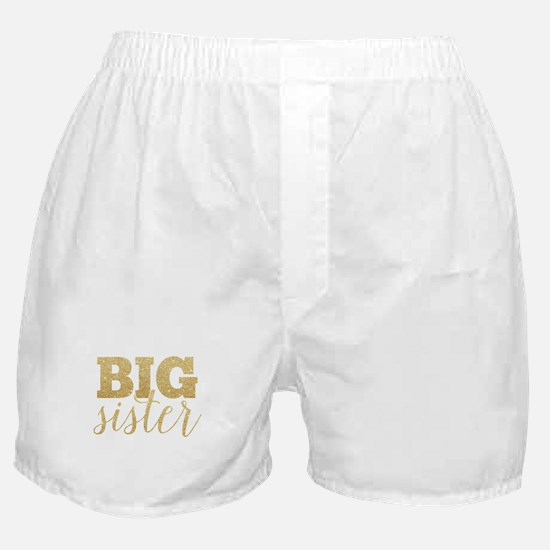 Glitter Big Sister Boxer Shorts