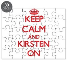 Keep Calm and Kirsten ON Puzzle