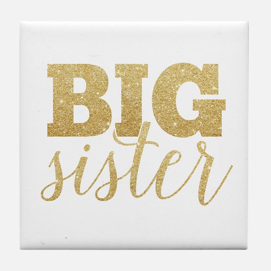 Glitter Big Sister Tile Coaster