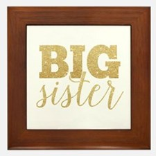 Glitter Big Sister Framed Tile
