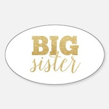Glitter Big Sister Decal
