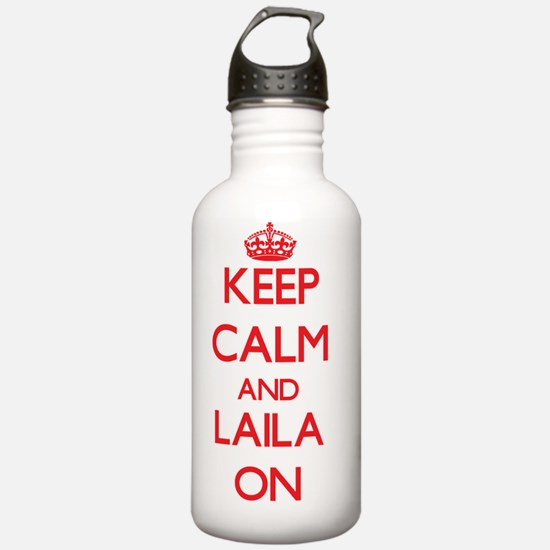 Keep Calm and Laila ON Water Bottle
