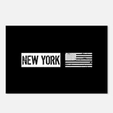Black & White U.S. Flag: Postcards (Package of 8)