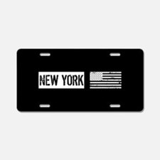 Black & White U.S. Flag: Ne Aluminum License Plate