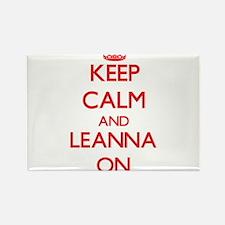Keep Calm and Leanna ON Magnets