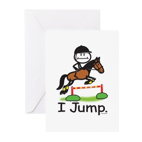 Horse Jumping Greeting Cards (Pk of 10)