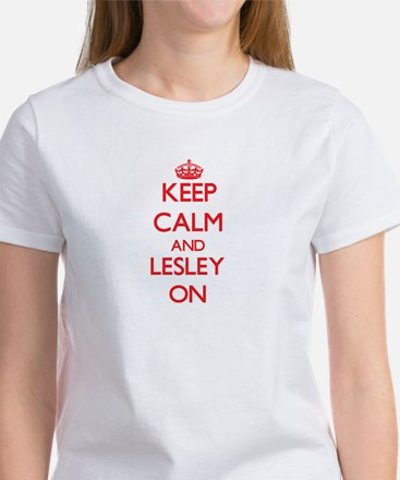Keep Calm and Lesley ON T-Shirt