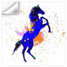 Splash Blue Horse Painting Wall Decal