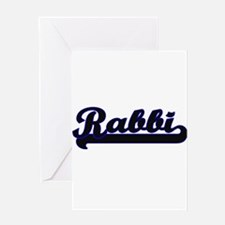 Rabbi Classic Job Design Greeting Cards